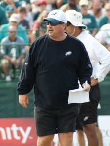 Offensive coordinator Marty Mornhinweg has gotten better production than Brad Childress out of a similar unit. How much is because of Mornhinweg?