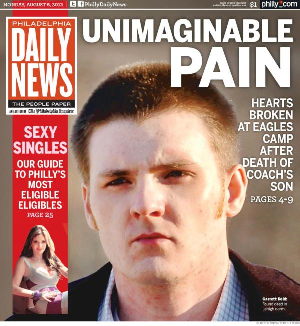 How the philadelphia daily news will cover garrett reid s death