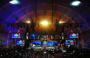 Apr 26, 2012; New York, NY, USA; A general view of Radio City Music Hall before the start of the 2012 NFL Draft. Mandatory Credit: James Lang-USA TODAY Sports
