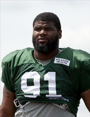 Jul 31, 2013; Cortland, NY, USA; New York Jets defensive tackle Sheldon Richardson (91) walks off the field following training camp at SUNY Cortland. Mandatory Credit: Rich Barnes-USA TODAY Sports