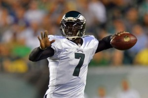 Eagles starting quarterback Michael Vick will take the field for the first time as the team's official starter.