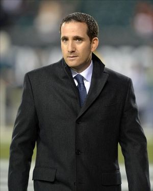Dec 13, 2012; Philadelphia, PA, USA; Philadelphia Eagles general manager Howie Roseman before the game against the Cincinnati Bengals at Lincoln Financial Field. Mandatory Credit: Kirby Lee/Image of Sport-USA TODAY Sports