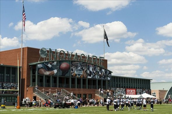 Jul 26, 2013; Philadelphia, PA, USA; Philadelphia Eagles defensive players talk about a drill during training camp at the Eagles NovaCare Complex. Mandatory Credit: Howard Smith-USA TODAY Sports