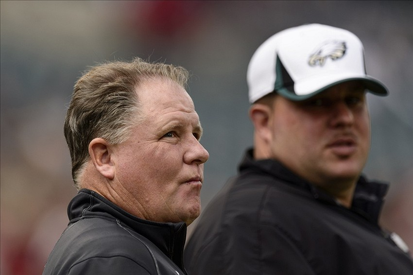 Chip Kelly is on the road, attending Pro Days and evaluating draft prospects.