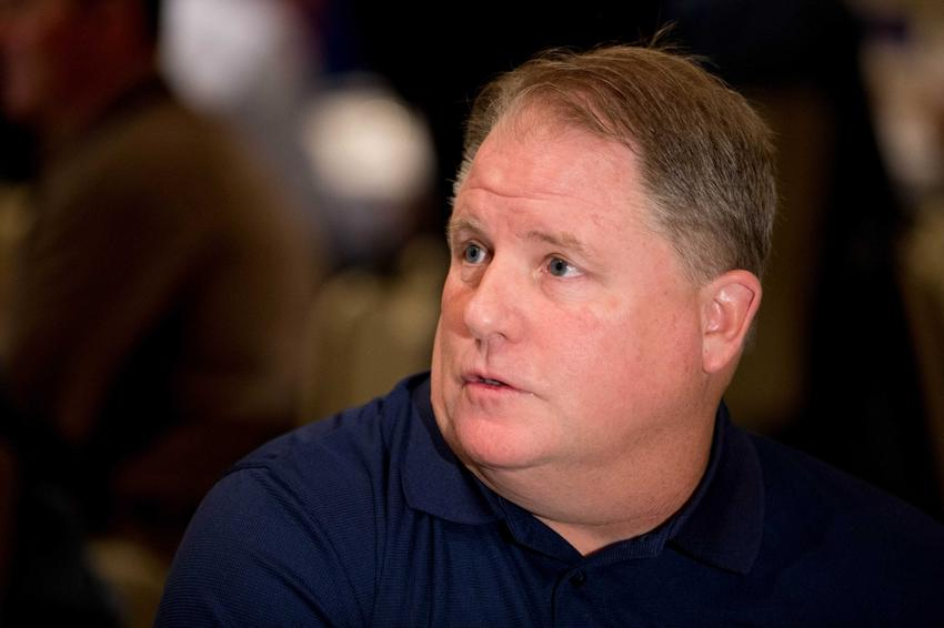 Mar 26, 2014; Orlando, FL, USA; Philadelphia Eagles head coach Chip Kelly speaks to reporters at the NFL Annual Meetings. Mandatory Credit: Rob Foldy-USA TODAY Sports
