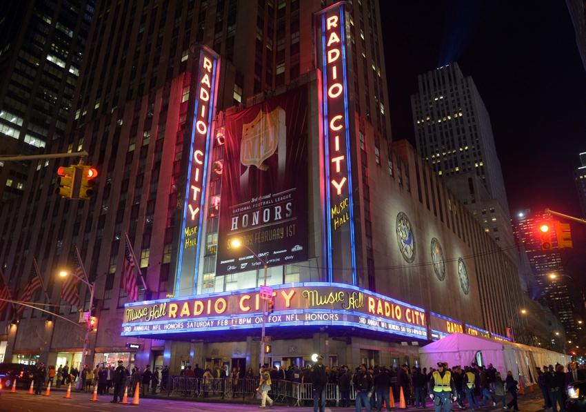 Feb 1, 2014; New York, NY, USA; General view of the 3rd NFL Honors at Radio City Music Hall. Mandatory Credit: Kirby Lee-USA TODAY Sports