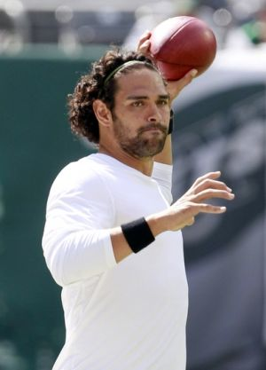 Sep 8, 2013; East Rutherford, USA; New York Jets quarterback Mark Sanchez(6) before the game against the Tampa Bay Buccaneers at MetLife Stadium. Mandatory Credit: William Perlman/THE STAR-LEDGER via USA TODAY Sports