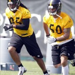 Steelers linebackers Jarvis Jones and Larry Foote exemplify the mix of Veterans and Youth in Pittsburgh