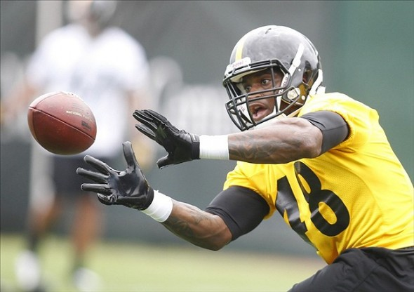 Jun 11, 2013; Pittsburgh, PA, USA; Pittsburgh Steelers linebacker Kion Wilson (48) participates in drills during minicamp at the UPMC Sports Complex. Mandatory Credit: Charles LeClaire-USA TODAY Sports