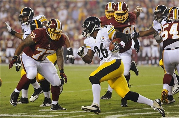 Aug 19, 2013; Landover, MD, USA; Pittsburgh Steelers running back Le'Veon Bell. Mandatory Credit: Geoff Burke-USA TODAY Sports