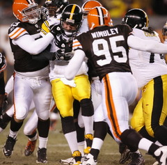 The Stelers followed up the Oakland debacle 4 days later in Cleveland in one of the Steelers worst performances under Tomlin. Roethlisberger was sacked 8 times. Courtesy bing images.