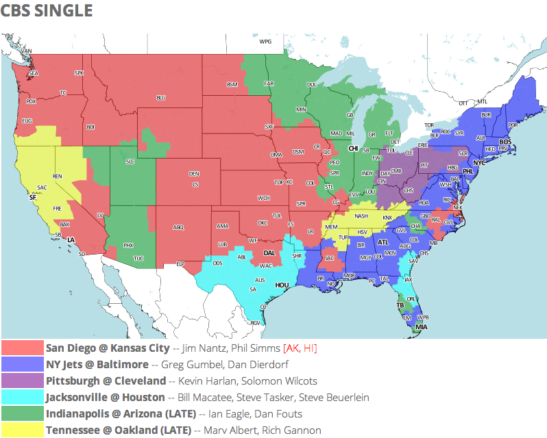 Week 12 TV Map