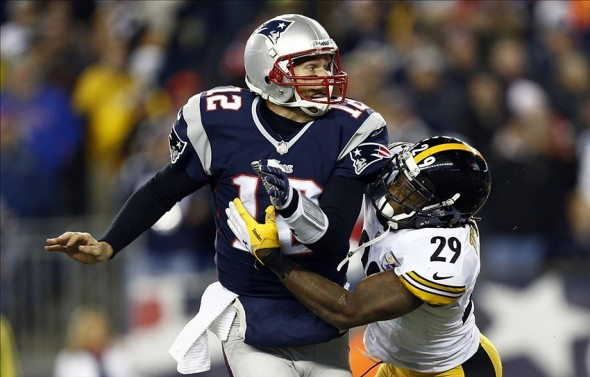 steelers shamarko thomas experiment, shamarko thomas, jordan dangerfield, tom brady, steelers vs. patriots