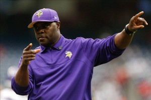 Dec 23, 2012; Houston, TX, USA; Minnesota Vikings running backs coach James Saxon coaches against the Houston Texans before the game at Reliant Stadium. Mandatory Credit: Thomas Campbell-USA TODAY Sports