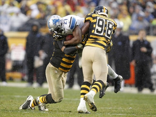 vince willliams, vince williams steelers contract, vince williams contract, reggie bush, steelers vs. lions 2013