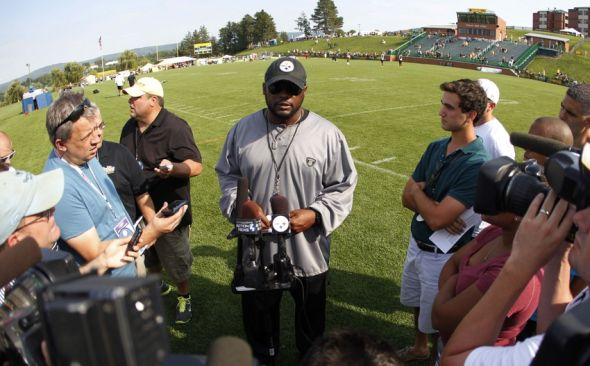 Mike Tomlin, St. Vincents, Steelers Training camp