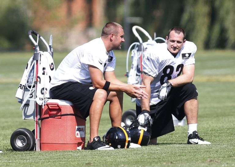 Heath-miller-ben-roethlisberger-nfl-pittsburgh-steelers-training-camp-768x548