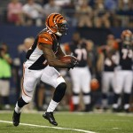 Aug 24, 2013; Arlington, TX, USA; Cincinnati Bengals wide receiver Brandon Tate (19) returns a punt for a touchdown in the first quarter of the game against the Dallas Cowboys at AT
