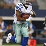 Aug 24, 2013; Arlington, TX, USA; Dallas Cowboys running back DeMarco Murray (29) runs with the ball in the third quarter against the Cincinnati Bengals at AT
