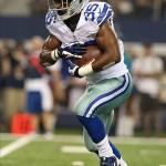 Aug 24, 2013; Arlington, TX, USA; Dallas Cowboys running back Joseph Randle (35) runs with the ball in the fourth quarter against the Cincinnati Bengals at AT