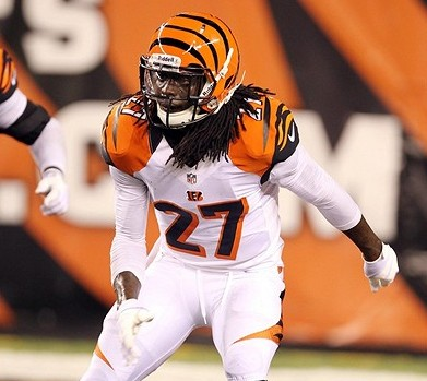 Aug 17, 2013; Cincinnati, OH, USA; Cincinnati Bengals cornerback Dre Kirkpatrick falls back into pass coverage against the Tennessee Titans at Paul Brown Stadium. Mandatory Credit: Brian Spurlock-USA TODAY Sports