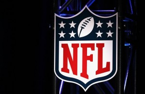 Feb 4, 2012; Indianapolis, IN, USA; General view of the NFL logo during a press conference announcing the NFL hall of fame class of 2012 finalists at the JW Marriott. Mandatory Credit: Matthew Emmons-USA TODAY Sports
