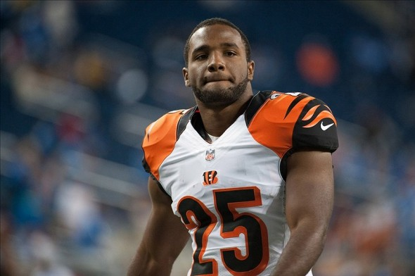 Oct 20, 2013; Detroit, MI, USA; Cincinnati Bengals running back Giovani Bernard (25) before the game against the Detroit Lions at Ford Field. Mandatory Credit: Tim Fuller-USA TODAY Sports