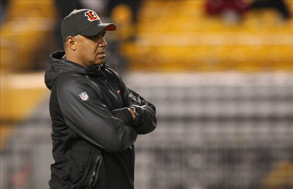 Dec 15, 2013; Pittsburgh, PA, USA; Cincinnati Bengals head coach Marvin Lewis prior to the game against the Pittsburgh Steelers at Heinz Field. Mandatory Credit: Jason Bridge-USA TODAY Sports