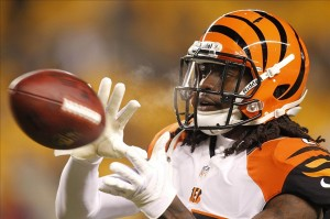 Dec 15, 2013; Pittsburgh, PA, USA; Cincinnati Bengals cornerback Dre Kirkpatrick (27) warms up prior to the game against the Pittsburgh Steelers at Heinz Field. Mandatory Credit: Charles LeClaire-USA TODAY Sports