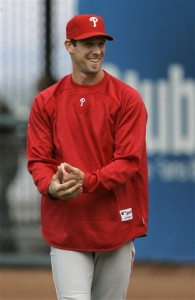Cliff Lee will take the rubber tonight for the first time as a member of the Phillies.