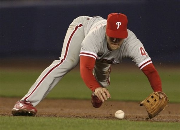 """Kyaah!"" Eric Bruntlett, screamed, diving on the ball like a cat hunting its prey. It was one of two errors that inning."
