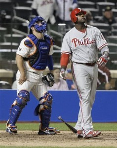 Ryan Howard made this Mets catcher cry.