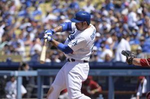 Adrian Gonzalez. Image Credit: Robert Hanashiro-USA TODAY Sports