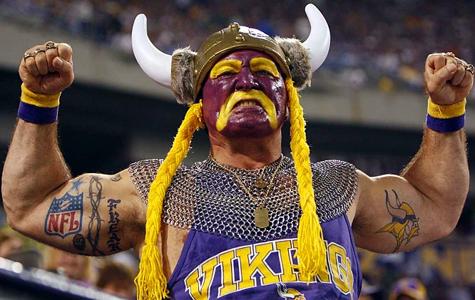 crazy vikings fans
