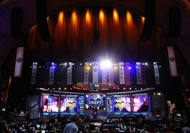 Apr 26, 2012; New York, NY, USA; A general view of the 2012 NFL Draft at Radio City Music Hall. Mandatory Credit: James Lang-USA TODAY Sports
