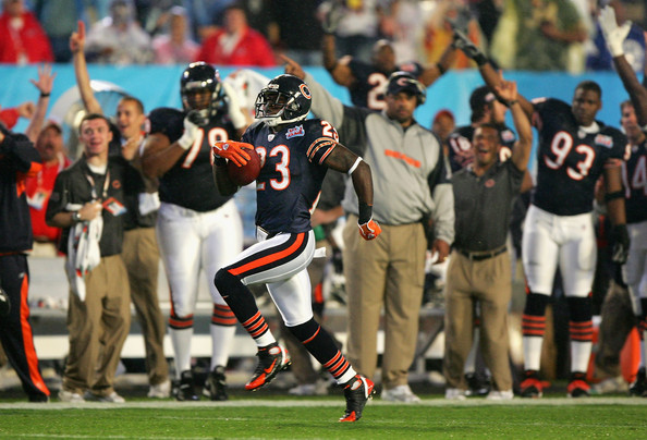 Devin Hester returns the opening kickoff of Super Bowl XLI for a Touchdown (Photo courtesy of Zimbio)