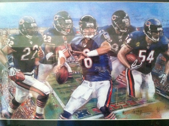 Original piece by Gong featuring Forte, Hester, Cutler, Peppers, and the now retired Brian Urlacher