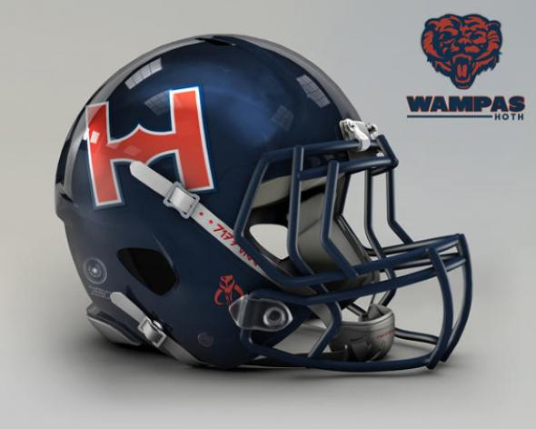 Chicago Bears Wampa star-wars-nfl-helmets