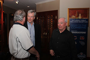George McCaskey talks with fans at Road to the Combine presented by Bridgestone