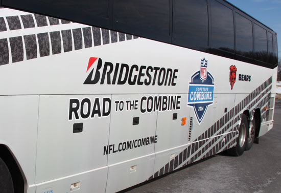 Bridgestone Presents Road to the Combine where fans get inside for exclusive access.