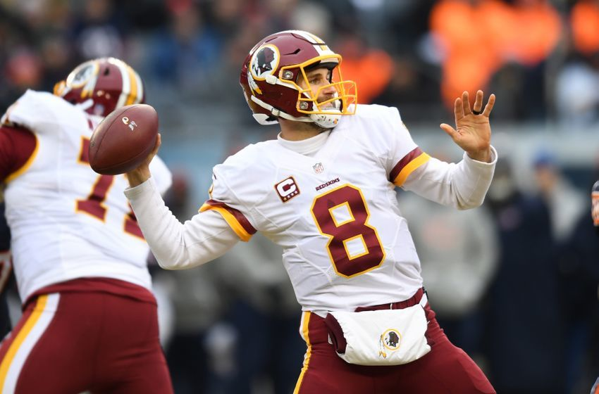 Dec 24, 2016; Chicago, IL, USA; Washington Redskins quarterback Kirk Cousins (8) throws the ball against the Chicago Bears during the first half at Soldier Field. Mandatory Credit: Patrick Gorski-USA TODAY Sports