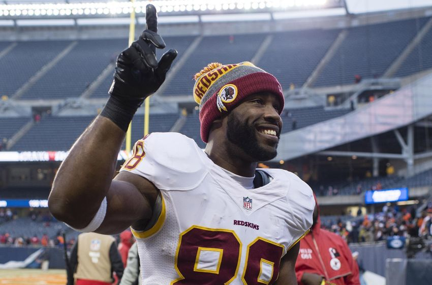 Dec 24, 2016; Chicago, IL, USA; Washington Redskins wide receiver Pierre Garcon (88) acknowledges the crowd as he leaves the field after the game against the Chicago Bears at Soldier Field. The Redskins won 41-21. Mandatory Credit: Jerome Miron-USA TODAY Sports