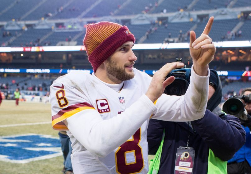 Dec 24, 2016; Chicago, IL, USA; Washington Redskins quarterback Kirk Cousins (8) after the game against the Chicago Bears at Soldier Field. The Redskins defeat the Bears 41-21. Mandatory Credit: Jerome Miron-USA TODAY Sports