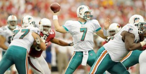"Chad Henne is, ""not going to change the way I play"". Photo courtesy Miami Sun Sentinel."