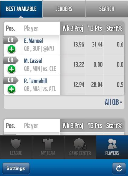 Cassel Fantasy Football