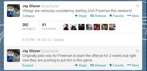 Glazer Freeman Tweet