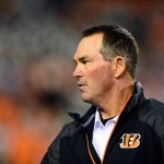Sep 16, 2013; Cincinnati, OH, USA; Cincinnati Bengals defensive coordinator Mike Zimmer prior to the game against the Pittsburgh Steelers at Paul Brown Stadium. Mandatory Credit: Andrew Weber-USA TODAY Sports