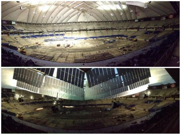 metrodome roof deflations