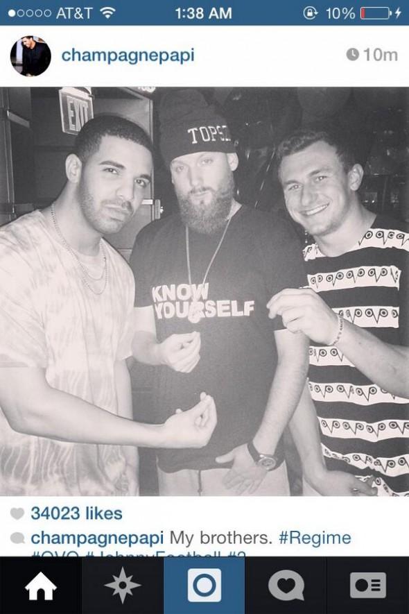 johnny manziel drake