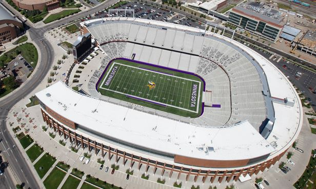 An aerial preview of TCF Bank Stadium from NewVikingsStadium.com